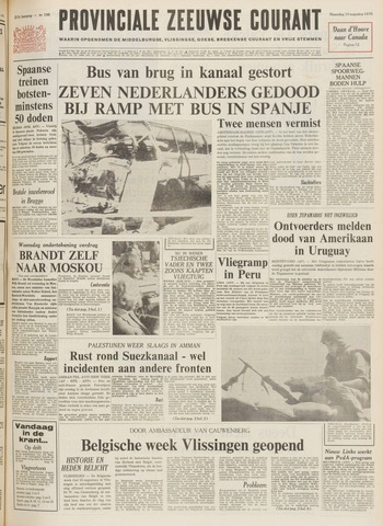 Provinciale Zeeuwse Courant 1970-08-10