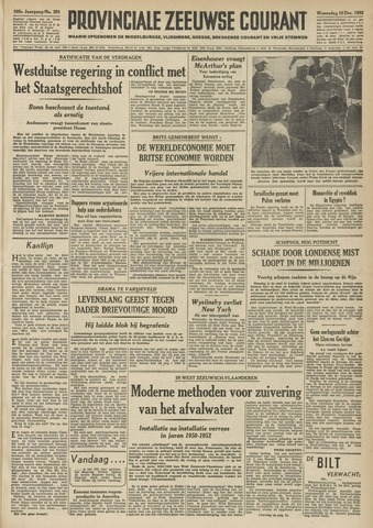 Provinciale Zeeuwse Courant 1952-12-10