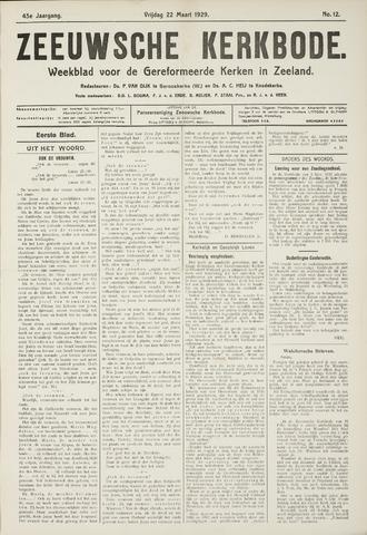 Zeeuwsche kerkbode, weekblad gewijd aan de belangen der gereformeerde kerken/ Zeeuwsch kerkblad 1929-03-22