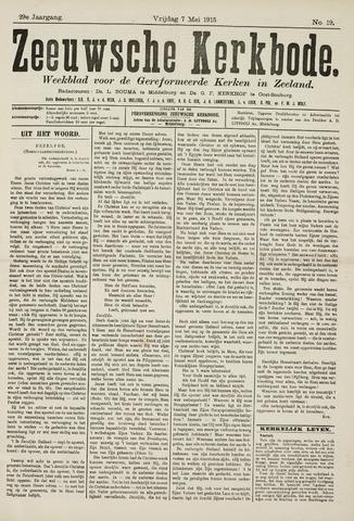 Zeeuwsche kerkbode, weekblad gewijd aan de belangen der gereformeerde kerken/ Zeeuwsch kerkblad 1915-05-07