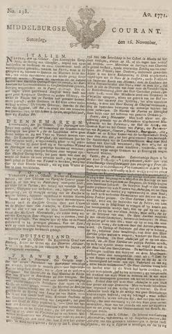 Middelburgsche Courant 1771-11-16