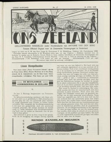 Ons Zeeland / Zeeuwsche editie 1928-04-28