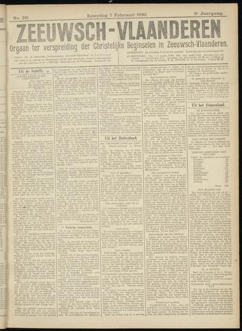 Luctor et Emergo. Antirevolutionair nieuws- en advertentieblad voor Zeeland / Zeeuwsch-Vlaanderen. Orgaan ter verspreiding van de christelijke beginselen in Zeeuwsch-Vlaanderen 1920-02-07
