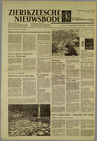 Zierikzeesche Nieuwsbode 1962-09-06