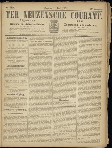 Ter Neuzensche Courant. Algemeen Nieuws- en Advertentieblad voor Zeeuwsch-Vlaanderen / Neuzensche Courant ... (idem) / (Algemeen) nieuws en advertentieblad voor Zeeuwsch-Vlaanderen 1892-06-11