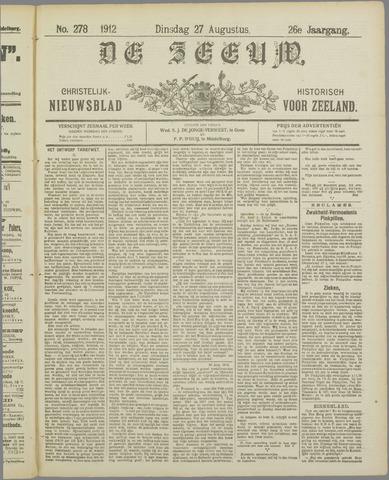 De Zeeuw. Christelijk-historisch nieuwsblad voor Zeeland 1912-08-27