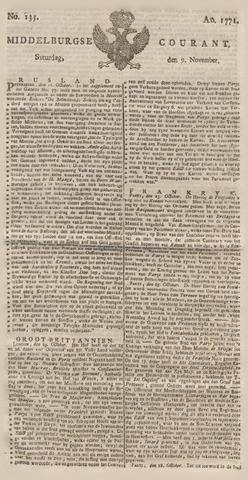 Middelburgsche Courant 1771-11-09