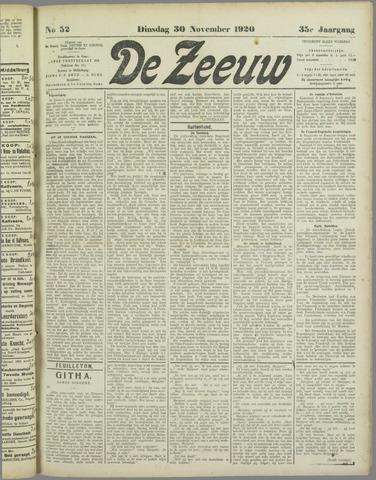 De Zeeuw. Christelijk-historisch nieuwsblad voor Zeeland 1920-11-30