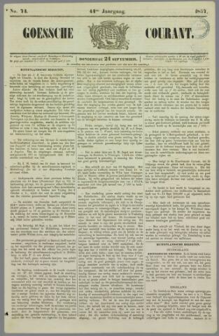 Goessche Courant 1857-09-24