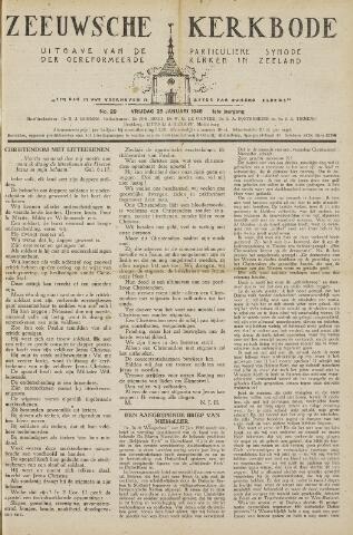 Zeeuwsche kerkbode, weekblad gewijd aan de belangen der gereformeerde kerken/ Zeeuwsch kerkblad 1946-01-25