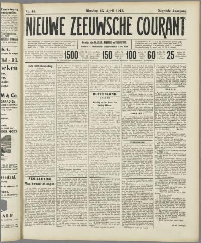 Nieuwe Zeeuwsche Courant 1913-04-15