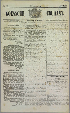 Goessche Courant 1861-10-07