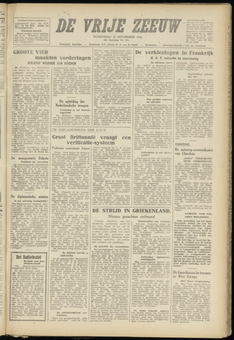 de Vrije Zeeuw 1946-11-27