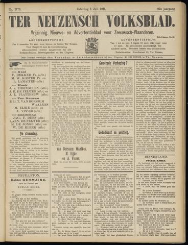 Ter Neuzensch Volksblad. Vrijzinnig nieuws- en advertentieblad voor Zeeuwsch- Vlaanderen / Zeeuwsch Nieuwsblad. Nieuws- en advertentieblad voor Zeeland 1911-07-01