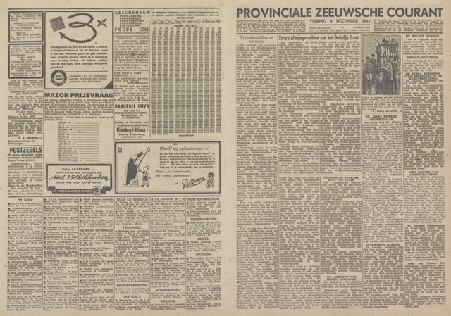 Provinciale Zeeuwse Courant 1942-12-04