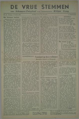 Vrije Stemmen van Schouwen-Duiveland, tevens mededeelingenblad Militair Gezag 1945-10-23