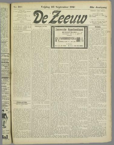 De Zeeuw. Christelijk-historisch nieuwsblad voor Zeeland 1921-09-23