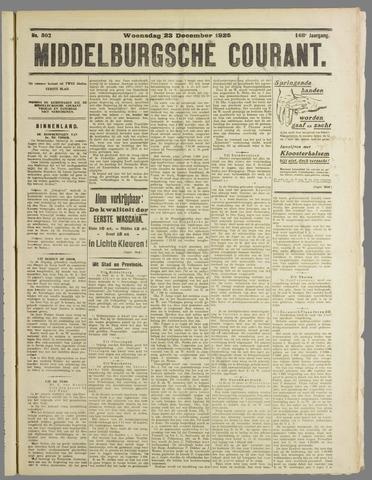 Middelburgsche Courant 1925-12-23