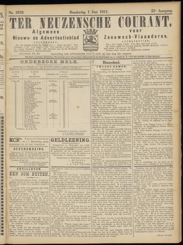 Ter Neuzensche Courant. Algemeen Nieuws- en Advertentieblad voor Zeeuwsch-Vlaanderen / Neuzensche Courant ... (idem) / (Algemeen) nieuws en advertentieblad voor Zeeuwsch-Vlaanderen 1911-06-01