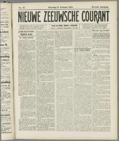 Nieuwe Zeeuwsche Courant 1911-02-18