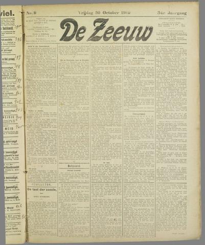 De Zeeuw. Christelijk-historisch nieuwsblad voor Zeeland 1919-10-10