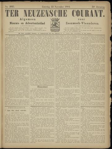 Ter Neuzensche Courant. Algemeen Nieuws- en Advertentieblad voor Zeeuwsch-Vlaanderen / Neuzensche Courant ... (idem) / (Algemeen) nieuws en advertentieblad voor Zeeuwsch-Vlaanderen 1884-11-22