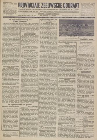 Provinciale Zeeuwse Courant 1942-01-10