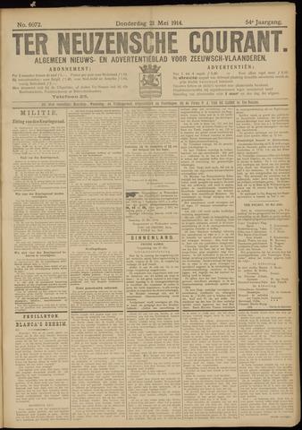 Ter Neuzensche Courant. Algemeen Nieuws- en Advertentieblad voor Zeeuwsch-Vlaanderen / Neuzensche Courant ... (idem) / (Algemeen) nieuws en advertentieblad voor Zeeuwsch-Vlaanderen 1914-05-21
