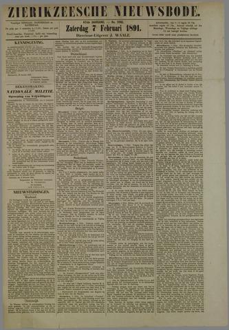 Zierikzeesche Nieuwsbode 1891-02-07