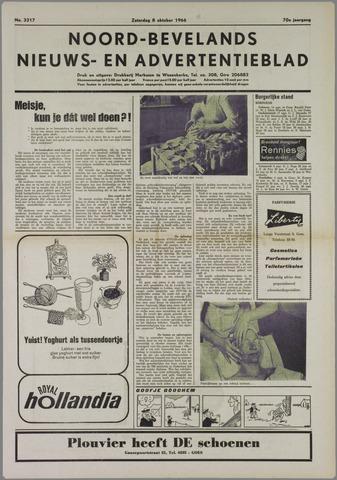 Noord-Bevelands Nieuws- en advertentieblad 1966-10-08