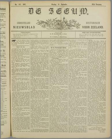 De Zeeuw. Christelijk-historisch nieuwsblad voor Zeeland 1897-09-14