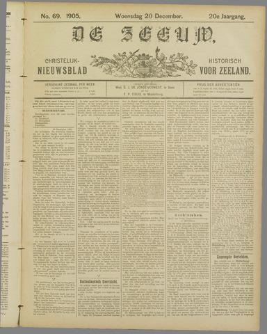 De Zeeuw. Christelijk-historisch nieuwsblad voor Zeeland 1905-12-20