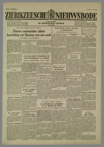 Zierikzeesche Nieuwsbode 1958-10-06