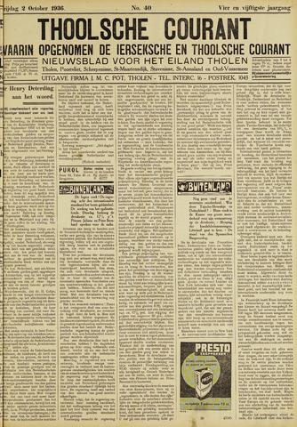 Ierseksche en Thoolsche Courant 1936-10-02