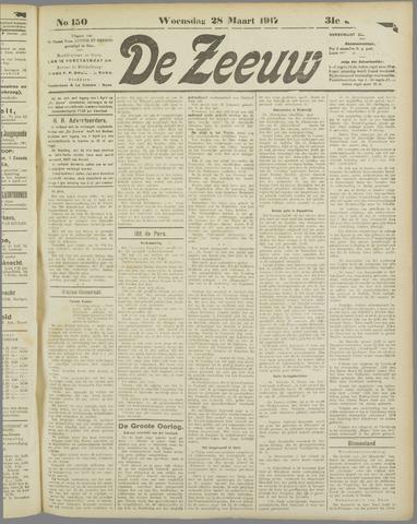 De Zeeuw. Christelijk-historisch nieuwsblad voor Zeeland 1917-03-28