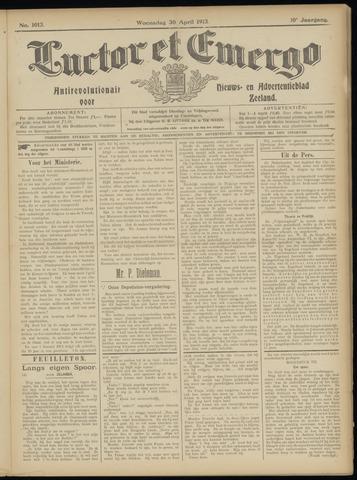 Luctor et Emergo. Antirevolutionair nieuws- en advertentieblad voor Zeeland / Zeeuwsch-Vlaanderen. Orgaan ter verspreiding van de christelijke beginselen in Zeeuwsch-Vlaanderen 1913-04-30
