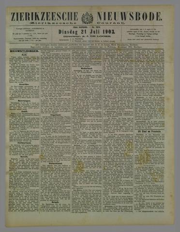 Zierikzeesche Nieuwsbode 1903-07-21