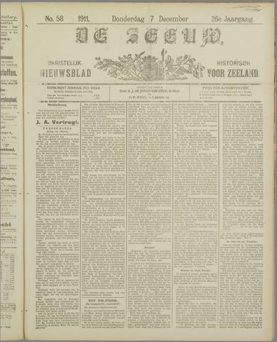De Zeeuw. Christelijk-historisch nieuwsblad voor Zeeland 1911-12-07