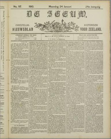 De Zeeuw. Christelijk-historisch nieuwsblad voor Zeeland 1910-01-24