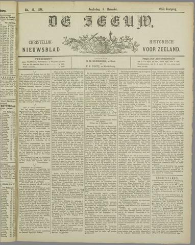 De Zeeuw. Christelijk-historisch nieuwsblad voor Zeeland 1896-11-05