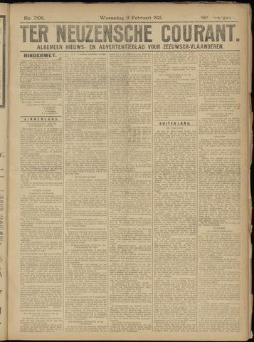 Ter Neuzensche Courant. Algemeen Nieuws- en Advertentieblad voor Zeeuwsch-Vlaanderen / Neuzensche Courant ... (idem) / (Algemeen) nieuws en advertentieblad voor Zeeuwsch-Vlaanderen 1921-02-09
