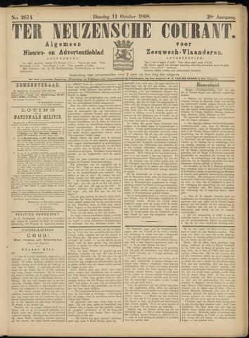 Ter Neuzensche Courant. Algemeen Nieuws- en Advertentieblad voor Zeeuwsch-Vlaanderen / Neuzensche Courant ... (idem) / (Algemeen) nieuws en advertentieblad voor Zeeuwsch-Vlaanderen 1898-10-11