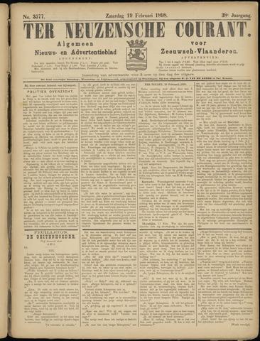 Ter Neuzensche Courant. Algemeen Nieuws- en Advertentieblad voor Zeeuwsch-Vlaanderen / Neuzensche Courant ... (idem) / (Algemeen) nieuws en advertentieblad voor Zeeuwsch-Vlaanderen 1898-02-19