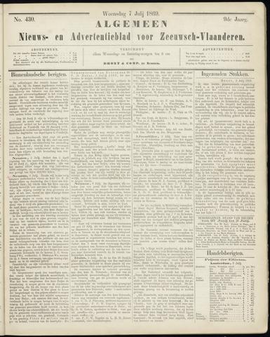 Ter Neuzensche Courant. Algemeen Nieuws- en Advertentieblad voor Zeeuwsch-Vlaanderen / Neuzensche Courant ... (idem) / (Algemeen) nieuws en advertentieblad voor Zeeuwsch-Vlaanderen 1869-07-07