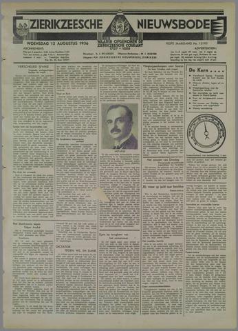 Zierikzeesche Nieuwsbode 1936-08-12
