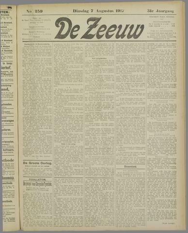 De Zeeuw. Christelijk-historisch nieuwsblad voor Zeeland 1917-08-07