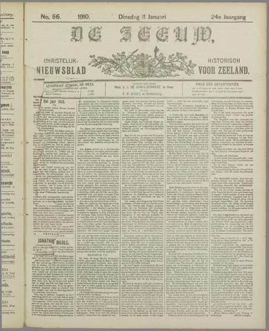 De Zeeuw. Christelijk-historisch nieuwsblad voor Zeeland 1910-01-11