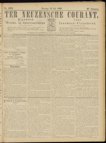 Ter Neuzensche Courant. Algemeen Nieuws- en Advertentieblad voor Zeeuwsch-Vlaanderen / Neuzensche Courant ... (idem) / (Algemeen) nieuws en advertentieblad voor Zeeuwsch-Vlaanderen 1906-07-10