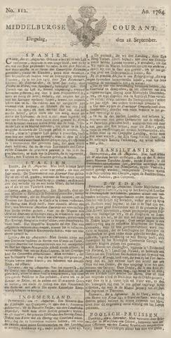Middelburgsche Courant 1764-09-18
