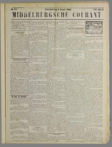 Middelburgsche Courant 1919-06-05